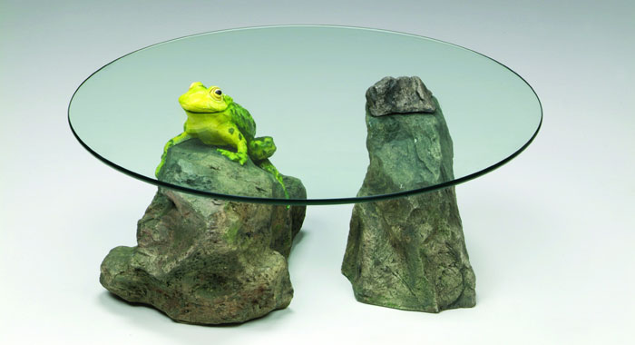 Frog Table - Glass Top Coffee Table
